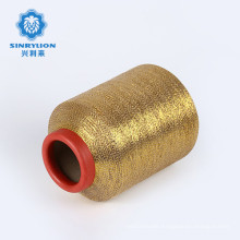AA grade good quality chunky polyester Pure gold and silver color metallic gold yarn for weaving fabric