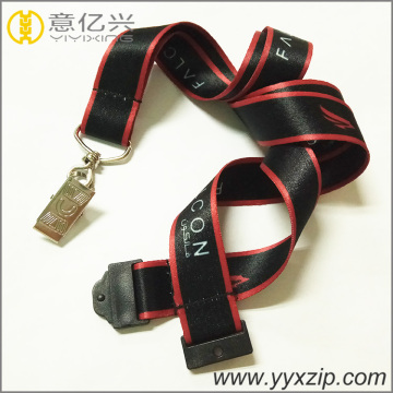 Hot selling black heat transfer printing lanyard