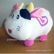 Cute plush cow shaped money box money pot