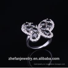 Anillo de bodas de titanio anillo de cuarzo de compromiso infinito para la joyería plateada rodio nupcial es su buena elección