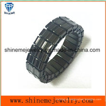 Shineme Body Jewelry de alta qualidade de moda Black Plated Ring (SSR2739)