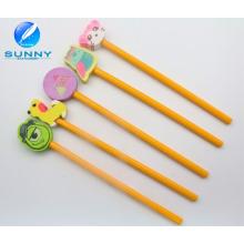 Woonden Bleistift mit Radiergummi Set, Bleistift Loch Radiergummi für Promotion, lustige Tier Form Radiergummi