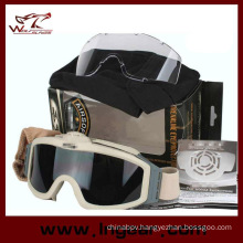 Airsoft Goggle Tactical Turbofan Goggles with 2 Speed Protective Goggles