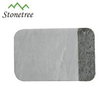 Placa de corte de queijo de placa de pão de mármore de cozinha