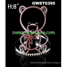 cheap rhinestone bear tiara crown -GWST0395