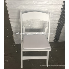 PP plástico branco resina cadeira dobrável para casamentos