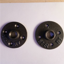 malleable iron floor flange with black /brass color