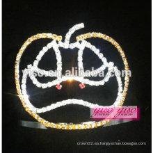 Tiara de cristal de calabaza de uso popular de diseño barato