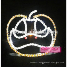 cheap design popular use pumpkin crystal tiara