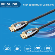 Nylon Braided 24k Gold Plated HDMI 1.4 2.0 Cable
