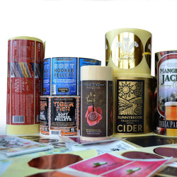 Eco-friendly Gold Foil Printing Adhesive Label Sticker