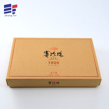 Kraft paper tea packaging box
