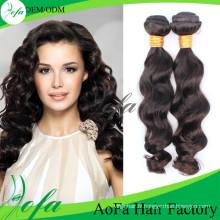 Extension de cheveux humains de vague de corps indien de cheveux humains de 100% de Vierge de la catégorie 8A