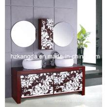 Cabinet de salle de bain en bois massif / vanité de salle de bain en bois massif (KD-433)
