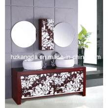 Gabinete de banheiro de madeira maciça / vaidade de banheiro de madeira maciça (KD-433)