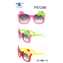 Kitty Shape Cute Girl Colorful Kid Plastic Sunglasses (PS1298)