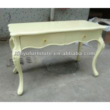 Кремовый цвет мягкий деревянный консольный стол I10025