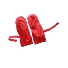 Rojo PU lluvia manopla para bebé/niño