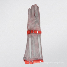 Long-Sleeve Chain Mail Protective Anti-Cut Glove-2375