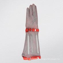 Длинный Рукав Кольчуги Защитные Анти-Вырезать Перчатка-2375