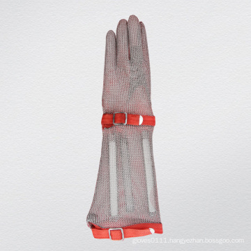 Long-Sleeve Chain Mail Protective Anti-Cut Glove-2375