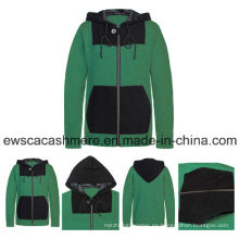 Suéter de cachemir puro de color sólido para hombres