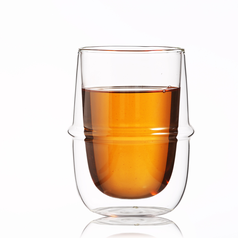 Dishwasher & Microwave Safe  creative beer  double wall glass cup