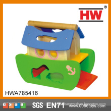 New Item Play Toys Kids Wooden Boat Toy Boat