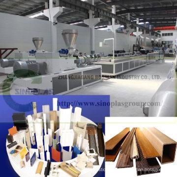 Línea de perfil de PVC / Línea de perfil de plástico / Línea de perfil de WPC / Línea de extrusión de perfil / Máquina de fabricación de perfil de plástico