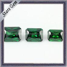 Venta caliente Emerald Color Octangle Princesa Cut Cubic Zirconia