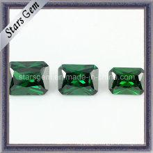 Hot Sale Emerald Color Octangle Princess Cut Cubic Zirconia