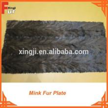 Placa de piel de visón de la pata trasera de calidad superior