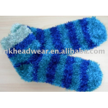 feather yarn slipper sock