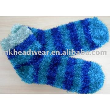 feather yarn slipper sock