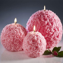 Rose Carving Penampilan Lilin Natal
