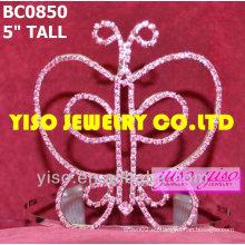 Corona de concurso de belleza de mariposa