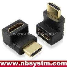 HDMI de 90 graus A tipo de ficha para adaptador de tomada