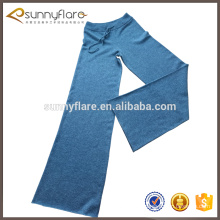 100% knitted Cashmere Jogger Lounge Pants for women