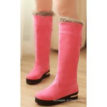 Botas-de-rosa de inverno para mulheres