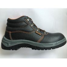 Split haut relief chaussure en cuir d'unité centrale seule travail sécurité