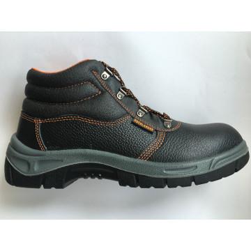 Верхняя Сплит тисненые кожаные подошвы PU работу безопасности обуви
