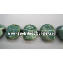25x30mm Beautiful Square Ceramic beads