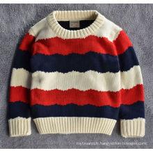 chandail de garçons de style coréen européen de vente chaude / chandail de conception de coton pour des enfants
