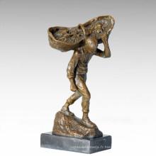 Eastern Life Statue Panier de raisin Bronze Figure Sculpture TPE-382