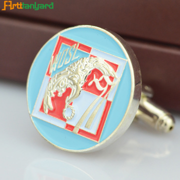 Customized Metal Cufflink Untuk Dekorasi