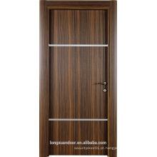 Portas de interiores de MDF de alta qualidade personalizadas com pele de Eco-Melamina