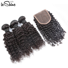 Hot Sale Raw Virgin Brazilian 3 Bundles Curly Hair With Closure 9A 10A Good And Wholesale Price