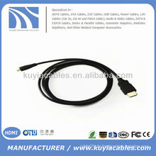 5FT Micro HDMI zu HDMI Kabel High Speed Handy 1080p 3D HTC EVO 4G HDTV