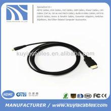 5FT Micro HDMI al cable de alta velocidad de la célula teléfono celular 1080p 3D HTC EVO 4G HDTV