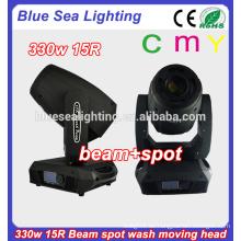 CMY 15r bewegliche Köpfe 330w Punktwaschstrahl 3in1